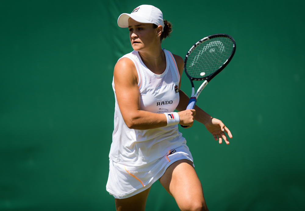 Ashleigh Barty in the second round of Wimbledon 2019