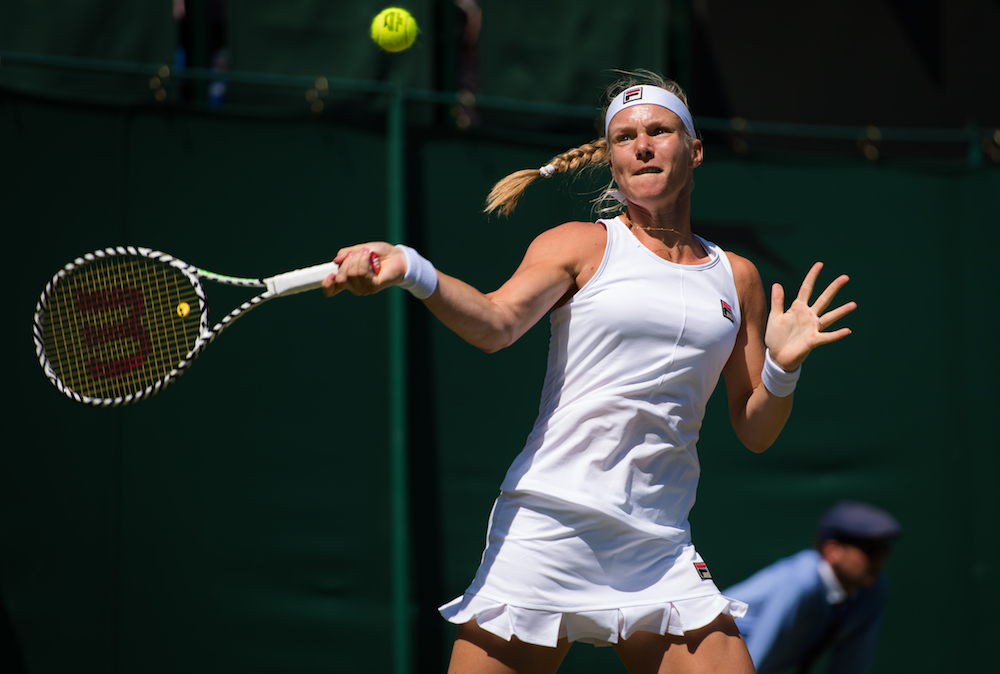 Kiki Bertens in the second round of Wimbledon 2019