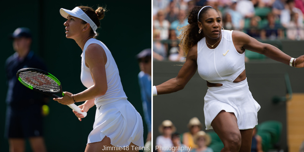 Simona Halep and Serena Williams, Wimbledon 2019 | Jimmie48 Tennis Photography