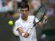 Novak Djokovic on Day Five of Wimbledon 2019