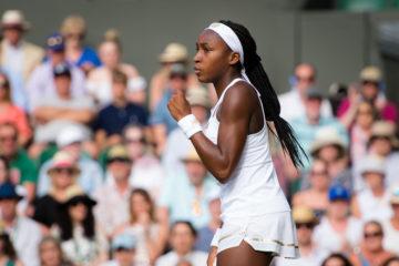 Cori Gauff in the third round of Wimbledon 2019