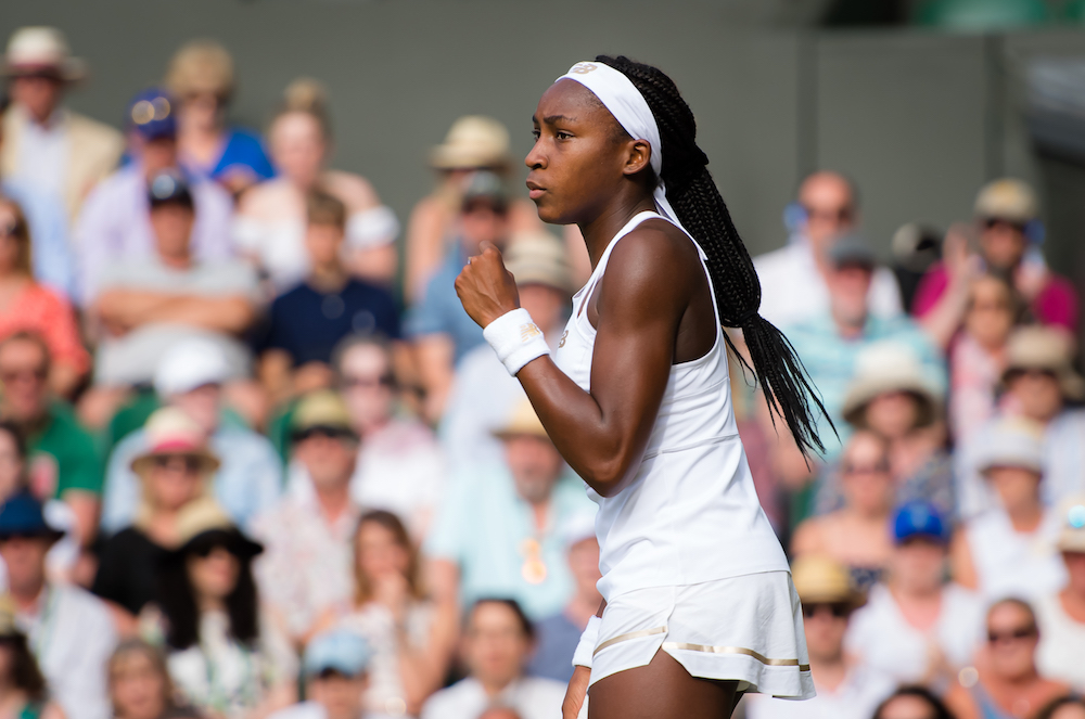 Cori Gauff in the third round of Wimbledon 2019