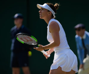 Simona Halep in the second round of Wimbledon 2019