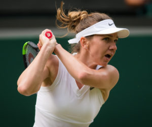 Simona Halep in the third round of Wimbledon 2019