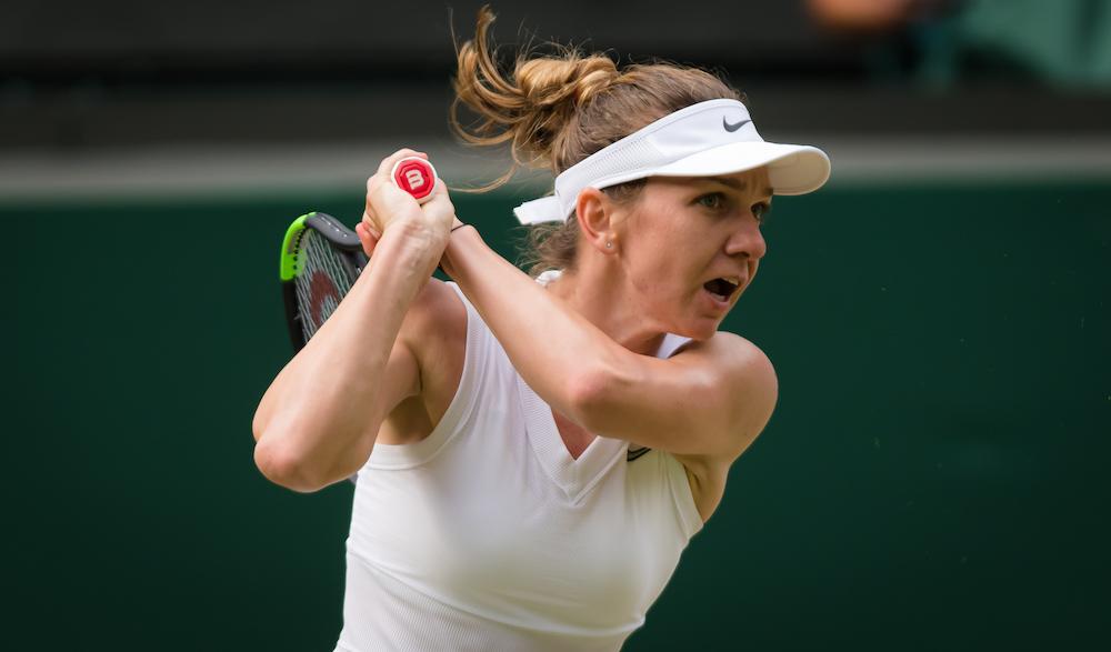 Simona Halep in the third round of Wimbledon 2019