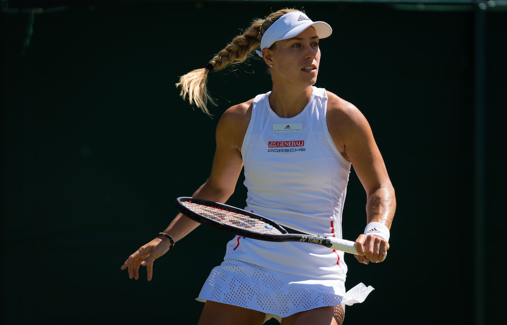 Angelique Kerber in the second round of Wimbledon 2019