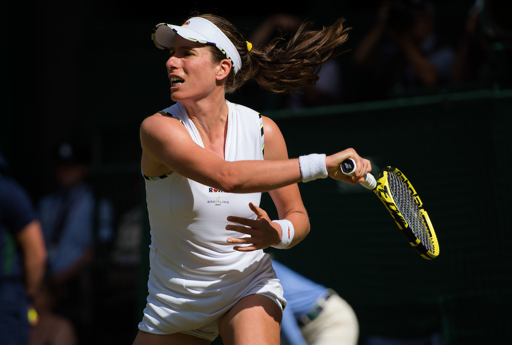 Johanna Konta in the second round of Wimbledon, 2019