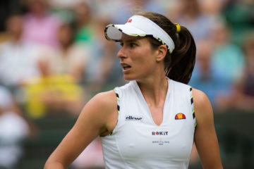 Johanna Konta in the third round of Wimbledon 2019
