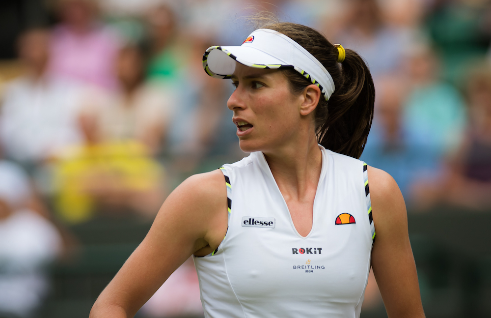Johanna Konta in the third round of Wimbledon 2019