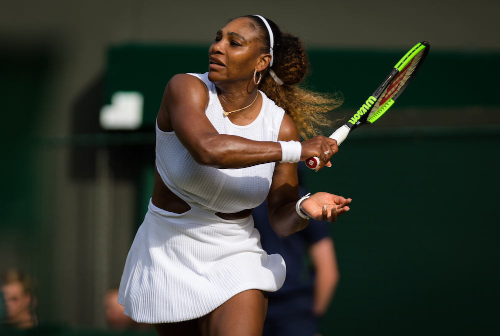 Serena Williams in the second round of Wimbledon, 2019