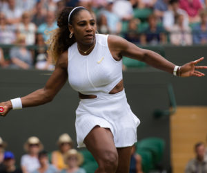 Serena Williams in the third round of WImbledon, 2019