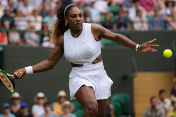 Serena Williams in the third round of WImbledon, 2019