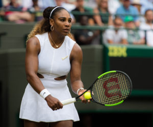 Serena Williams in the third round of Wimbledon 2019