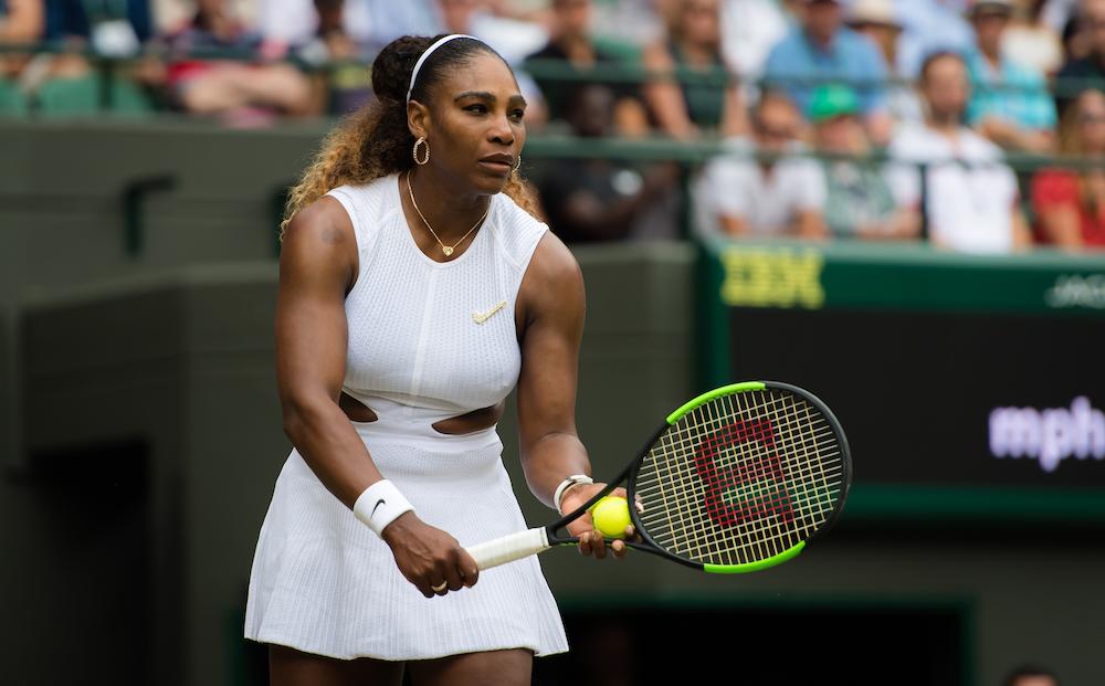 Serena Williams in the third round of Wimbledon 2019