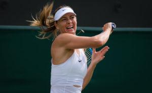 Maria Sharapova in the first round of Wimbledon 2019