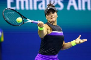 Bianca Andreescu in the fourth round of the US Open 2019, New York USA