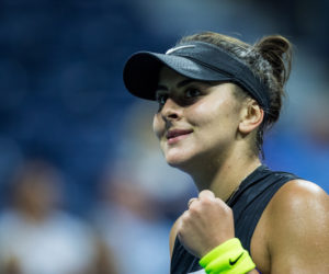 Bianca Andreescu in the semi-final of the US Open 2019, New York USA