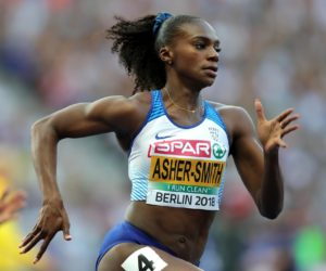 Dina Asher-Smith in the W200m at the European Athetics Championships, Berlin 2018