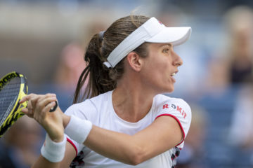 Johanna Konta in the quarter-finals of the US Open 2019, New York, USA.