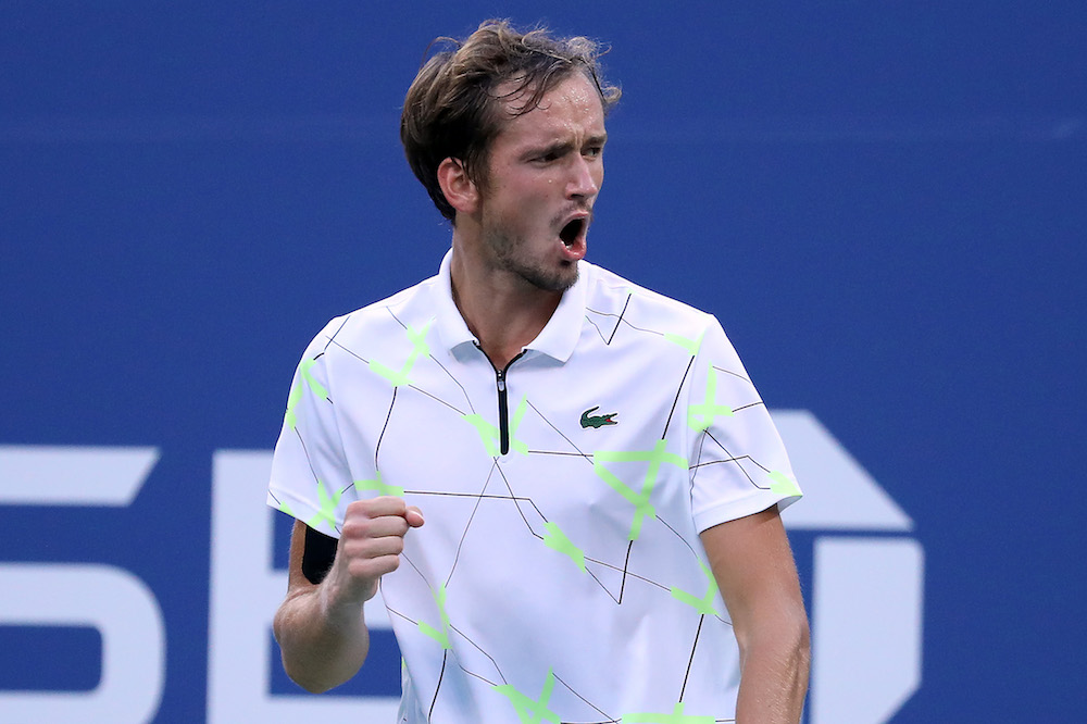 Daniil Medvedev in the fourth round of the US Open 2019, New York USA