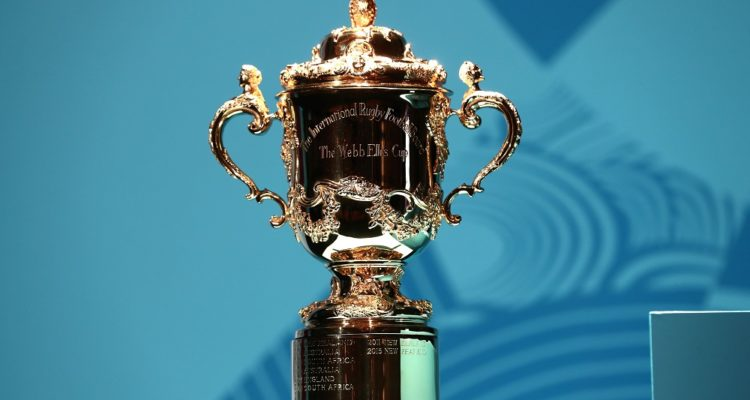 The Webb Ellis Cup during a kick off event with a year to go before the Rugby World Cup 2019