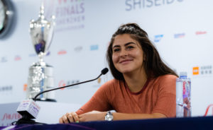 Bianca Andreescu in the Media All Access Hour, WTA Finals 2019, Shenzhen