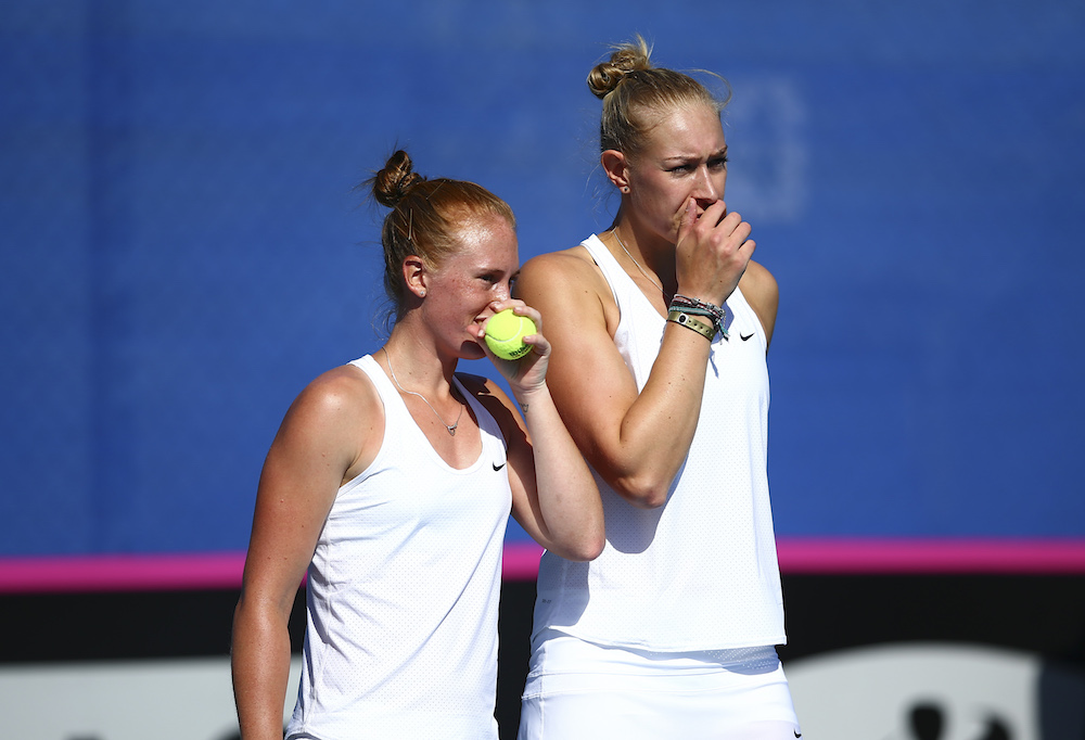 Anna Smith and Jocelyn Rae in the Fed Cup, 2016