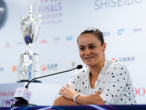 Ashleigh Barty at the Media All Access Hour, WTA Finals 2019, Shenzhen