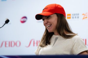 Simona Halep at the Media All Access Hour, WTA Finals 2019, Shenzhen