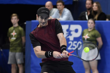 Andy Murray in the final of ATP Antwerp, Belgium 2019