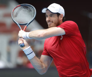 Andy Murray in the first round of the China Open, ATP Beijing, 2019