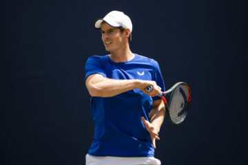 Andy Murray practicing at Queen's Club, London 2019