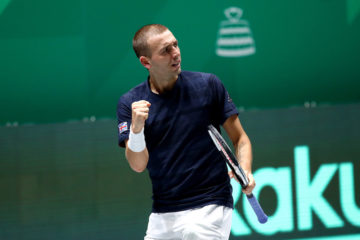Dan Evans in the group stage of the 2019 Davis Cup Finals, Madrid