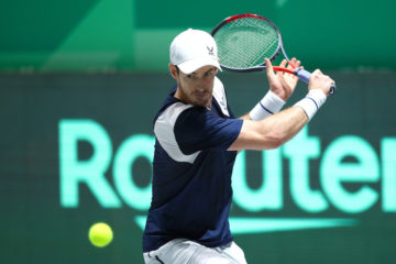 Andy Murray in the first group match against the Netherlands, of the 2019 Davis Cup Finals, Madrid