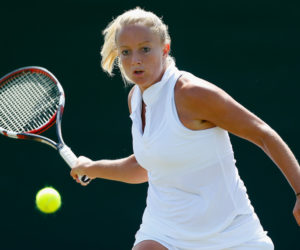 Emily Webley-Smith at Wimbledon Qualifying, 2014