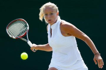 Emily Webley-Smith at Wimbledon Qualifying, 2014