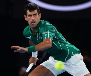 Novak Djokovic in the quarter-final of the 2020 Australian Open, Melbourne