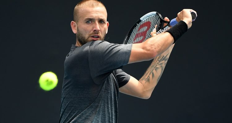 Dan Evans in the first round of the Australian Open 2020, Melbourne
