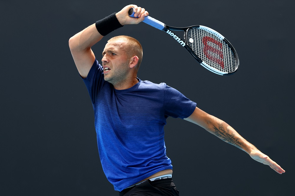 Dan Evans in the second round of the Australian Open 2020, Melbourne