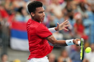 Felix Auger-Aliassime in the ATP Cup 2020