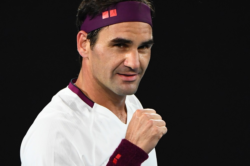 Roger Federer in the fourth round of the 2020 Australian Open, Melbourne