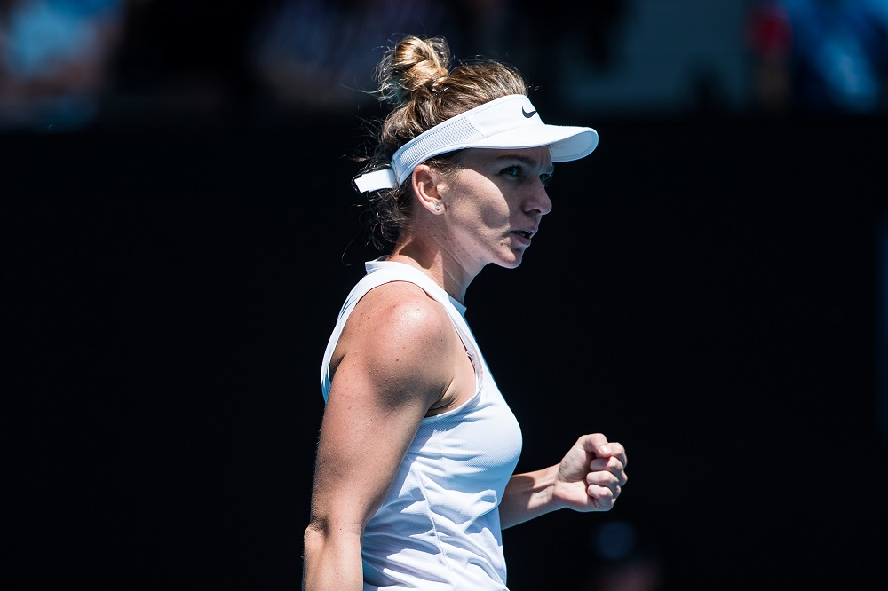 Simona Halep in the fourth round of the 2020 Australian Open, Melbourne