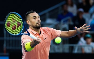 Nick Kyrgios in the second round of the 2020 Australian Open, Melbourne