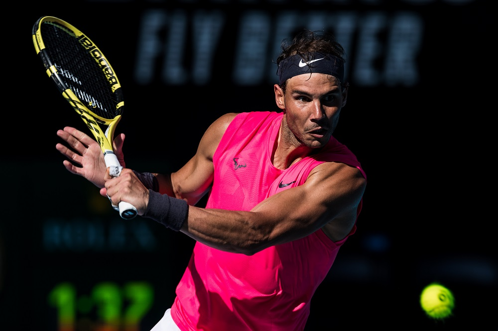 Rafael Nadal in the third round of the 2020 Australian Open, Melbourne