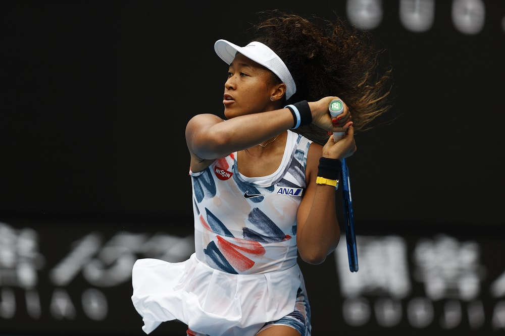 Naomi Osaka in the first round of the Australian Open 2020, Melbourne