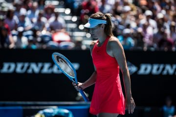 Maria Sharapova in the first round of the 2020 Australian Open, Melbourne