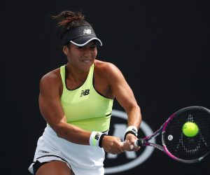 Heather Watson in the first round of the Australian Open 2020, Melbourne