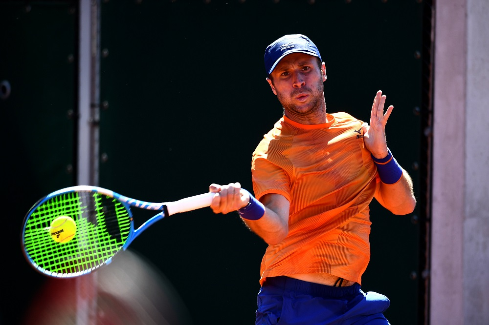 Luke Bambridge in the Mixed Doubles at Roland Garros 2019, Paris, France