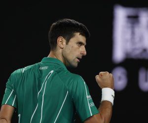Novak Djokovic in the final of the 202 Australian Open, Melbourne