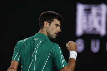 Novak Djokovic in the final of the 202 Australian Open, Melbourne